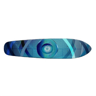 Metallic Flower Skateboard