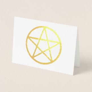 Metallic Foil Pentacle Greeting Card