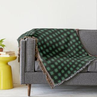 Metallic Four Leaf Clover Throw Blanket