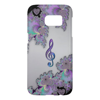 Metallic Fractal Music Clef Galaxy S7 Case