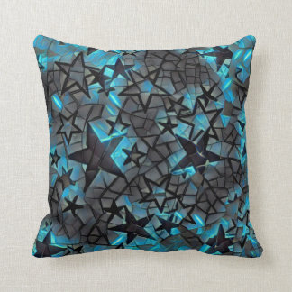 Metallic Galaxy Throw Pillow