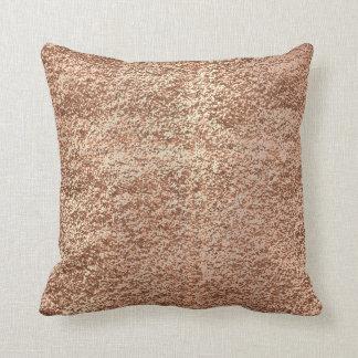 Metallic  Glitter Rose Gold Makeup Sparkly Copper Cushion
