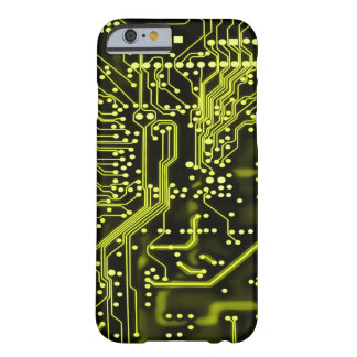 Metallic Gold Alien Time Travel Circuit Barely There iPhone 6 Case