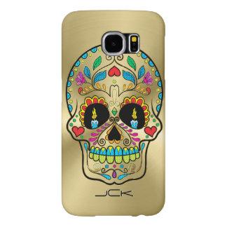 Metallic Gold And Colorful Sugar Skull