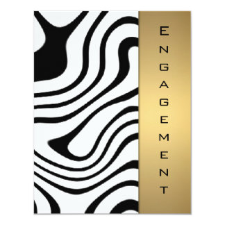 Metallic gold and silver abstract pattern card