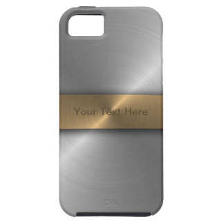 Metallic Gold And Steel iPhone 5 Covers