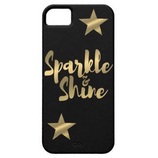 Metallic Gold & Black Sparkle & Shine iPhone Case iPhone 5 Cases