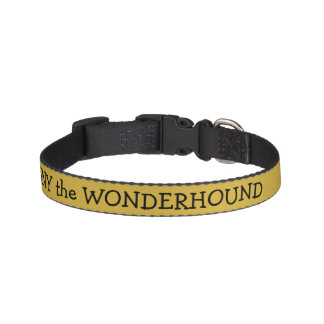 Metallic Gold Color Dog Collar w/Black Text