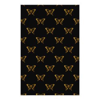 Metallic Gold Foil Butterflies on Black Flyer