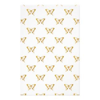 Metallic Gold Foil Butterflies on White Flyer