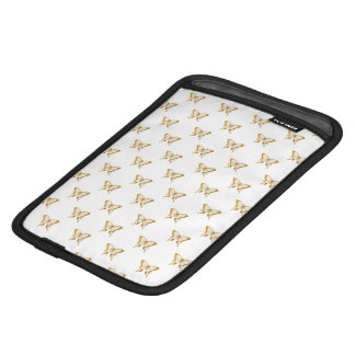 Metallic Gold Foil Butterflies on White iPad Mini Sleeve