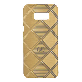 Metallic Gold Geometric Pattern Uncommon Samsung Galaxy S8 Plus Case