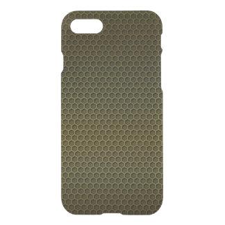 Metallic Gold Graphite Honeycomb Carbon Fiber iPhone 8/7 Case