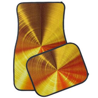 Metallic Gold Spiral Floor Mat