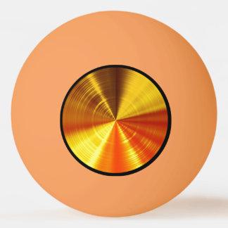 Metallic Gold Spiral Ping Pong Ball