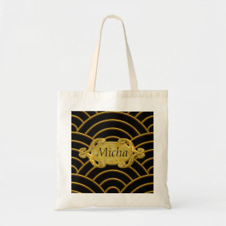 Metallic Golden Arches Monogram Tote Bag