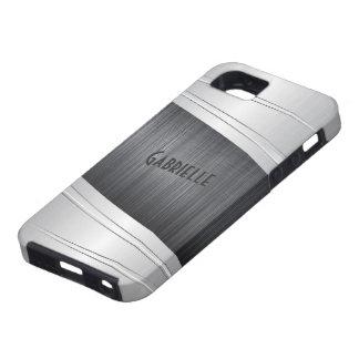 Metallic Gray Brushed Aluminum Look iPhone 5 Cases