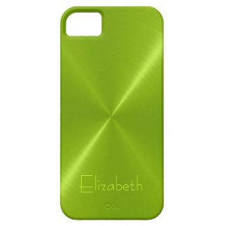 Metallic Green Stainless Steel Metal Look iPhone 5 Case