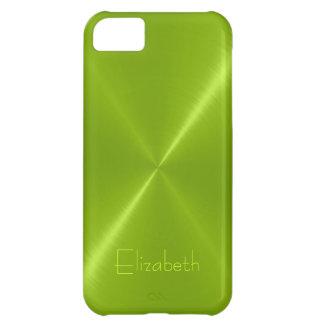 Metallic Green Stainless Steel Metal Look iPhone 5C Case