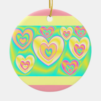 Metallic Hearts Christmas Ornament