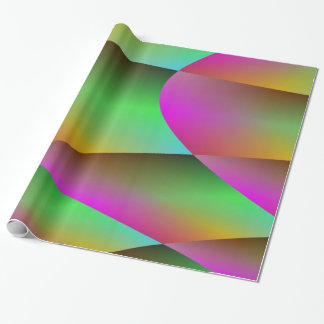 Metallic in Green and Purple Wrapping Paper