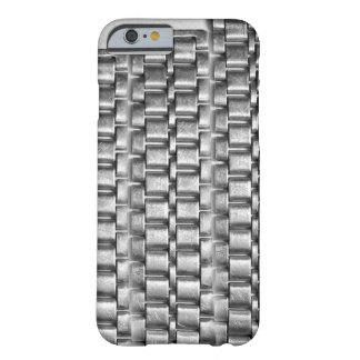 Metallic iphone cases - chain pattern steel silve