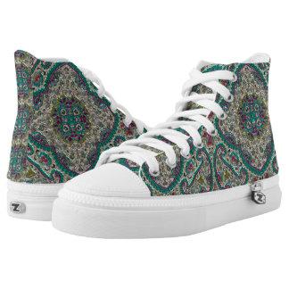 Metallic jewel designed shoes