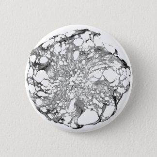 Metallic Lace Flower 6 Cm Round Badge