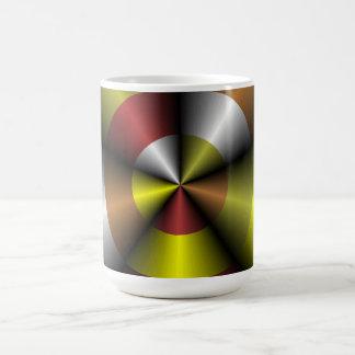 Metallic Look Abstract 3D Mug