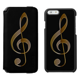 Metallic-look Treble Clef for Music-lovers Incipio Watson™ iPhone 6 Wallet Case