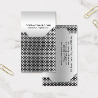 Metallic Mash and Stainless Steel  Business Card