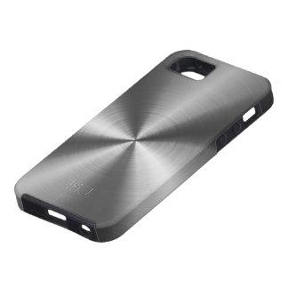 Metallic Medium Gray Tones Stainless Steel Look iPhone 5 Covers