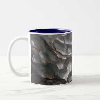 Metallic Meteorite Rock Pattern, Two-Tone Coffee Mug