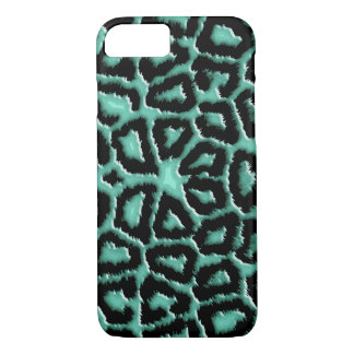 Metallic Mint Green Giraffe iPhone 7 Case