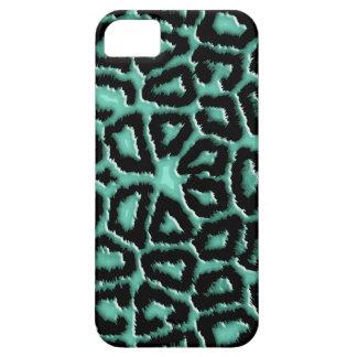 Metallic Mint Green Giraffe Print Case For The iPhone 5