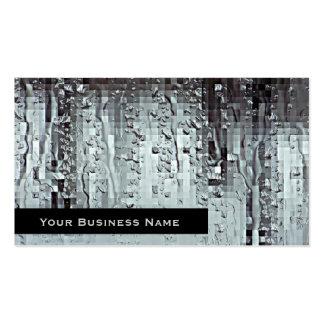 Metallic Modern Abstract Rain Droplets Business Card Template