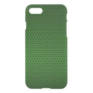 Metallic Neon Green Graphite Honeycomb Carbon Fibe iPhone 8/7 Case