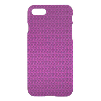 Metallic Neon Pink Graphite Honeycomb Carbon Fiber iPhone 8/7 Case