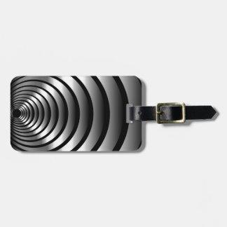 Metallic optical illusion luggage tag