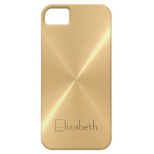 Metallic Pale Gold Stainless Steel Metal Look Case For iPhone 5/5S