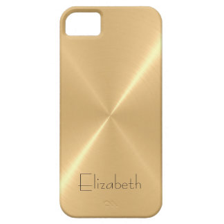 Metallic Pale Gold Stainless Steel Metal Look iPhone 5 Cover