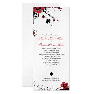 Metallic Paper Cherry Blossom Wedding Invite
