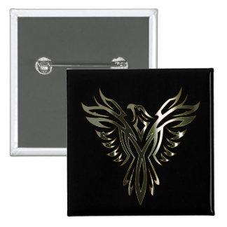 Metallic Phoenix 15 Cm Square Badge