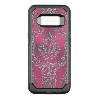 Metallic Pink Damask OtterBox Commuter Samsung Galaxy S8 Case