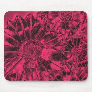 Metallic Pink Sunflowers Mousepad