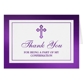 Metallic Purple Cross Holy Communion/Confirmation Card