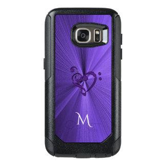 Metallic Purple Music Heart Galaxy S7 Case
