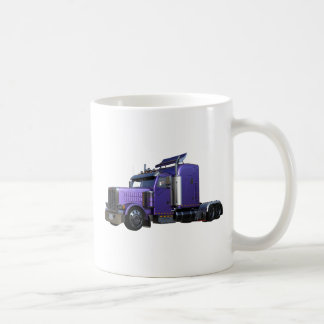 Metallic Purple Semi Truck In Three Quarter View Coffee Mug