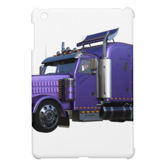 Metallic Purple Semi Truck In Three Quarter View iPad Mini Cover