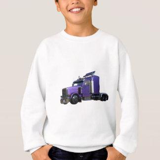 Metallic Purple Semi Truck In Three Quarter View Sweatshirt
